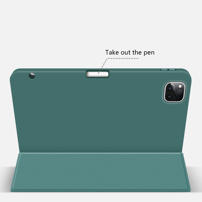Magnetic Smart Charging Pen Slot Case For iPad Pro 12.9 2020