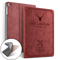 PU leather Cover & Case deer pattern logo customized version tablet cover for iPad pro 9.7 2016 with pencil holder