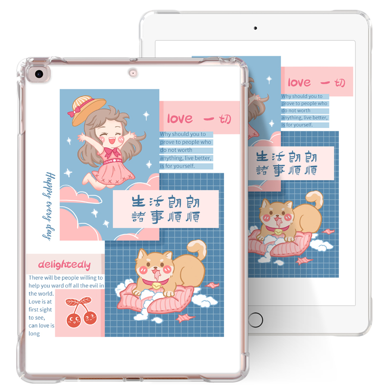 Transparent Air Sac Shockproof Slim Customize Printed Case for iPad Mini 4 5