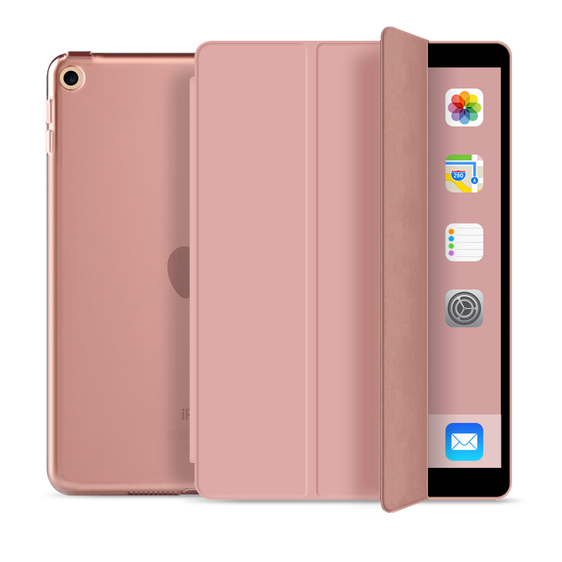 Tri Fold PC case with auto sleep wake up Smart Case for ipad mini 4 case