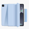 Suft Blue Magnetic Hasp With Trifold Soft TPU Tablet Case For iPad Pro 12.9 2020