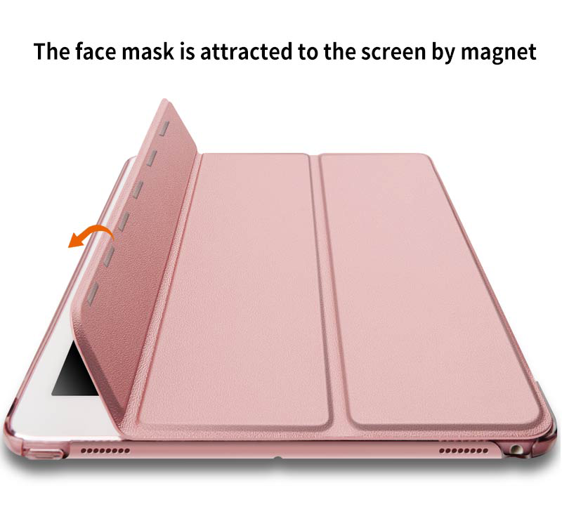 Tri-Fold Hard PC Back for The Tablet Case for iPad Mini 5